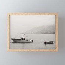 Opposite directions Framed Mini Art Print