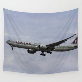 Qatar Airlines Boeing 777 Wall Tapestry