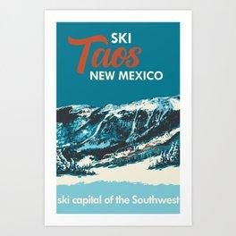 Ski Taos, New Mexico Poster Art Print