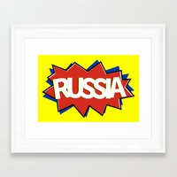 russia Framed Art Prints featuring Russia by mailboxdisco