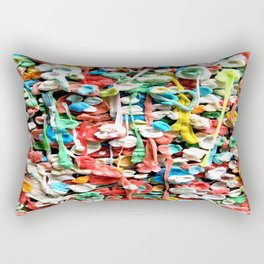 Gum Wall was once cleaned, then this happened. Rectangular Pillow