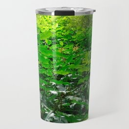 Green foliage Travel Mug