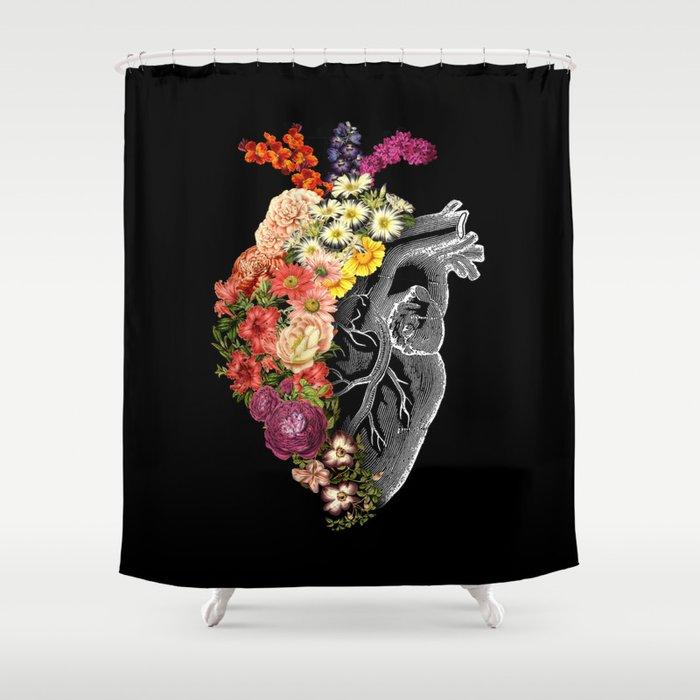 Flower Heart Spring Shower Curtain