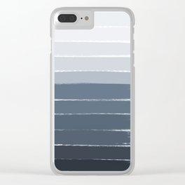 Tasli - ombre paint brushstrokes grey fade trendy dorm college home decor Clear iPhone Case