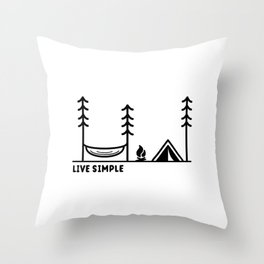 Live Simple Throw Pillow