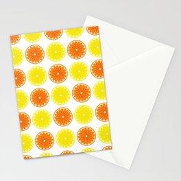 Orange & Lemon Pattern Stationery Cards