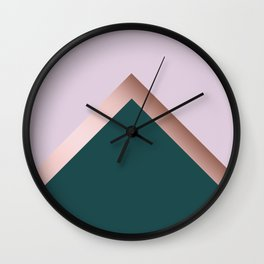 Rose gold, teal and purple Wall Clock