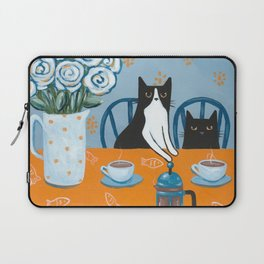 Cats and a French Press Laptop Sleeve