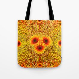 ART DECO GOLDEN SUNFLOWERS ABSTRACT Tote Bag
