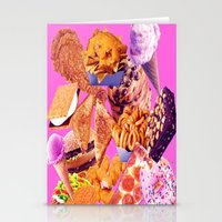 junk food Stationery Cards featuring Junk  by ♡♡Transparent Mess♡♡