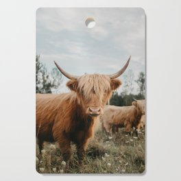 Highland Cow In The Country Cutting Board