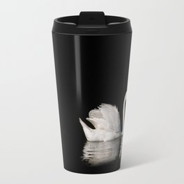 Mute Swan Cygnus olor at lake Travel Mug