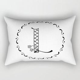 L - decorative monogram. Rectangular Pillow