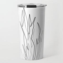 ''Plants Collection'' - Minimal One Line Plant Print Travel Mug