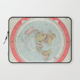 Flat Earth Society Wall Map Laptop Sleeve