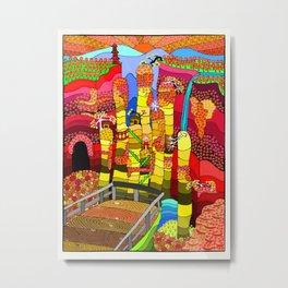Zhangjiajie Metal Print