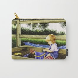 Child Playing in Sandbox Carry-All Pouch