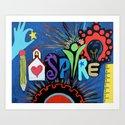 INSPIRE - Educational school teacher painting by paintedchrist