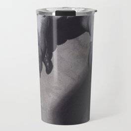 Realism Charcoal Drawing of Bloody Dripping Hand Travel Mug