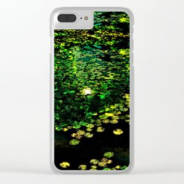 the Water Lilly Clear iPhone Case