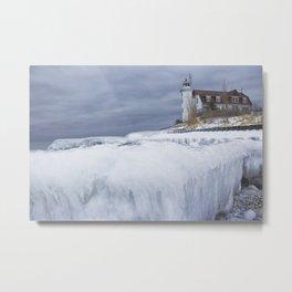 Point Betsie Lighthouse in Winter Metal Print