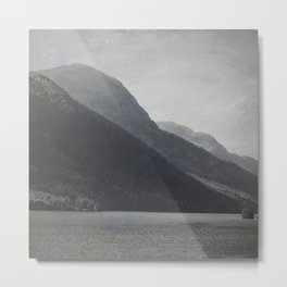 In the Shadows of Mountains Metal Print