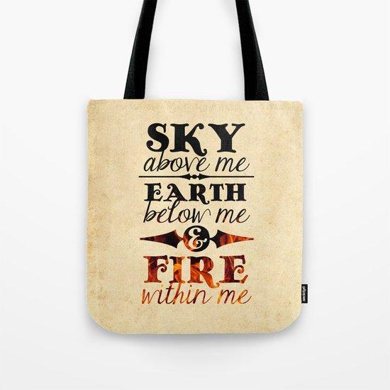 Sky Earth Fire Tote Bag