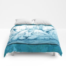 Bobcat nap Comforters