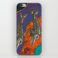 dolphins iPhone & iPod Skins featuring Dolphins by Sherdeb Akadan