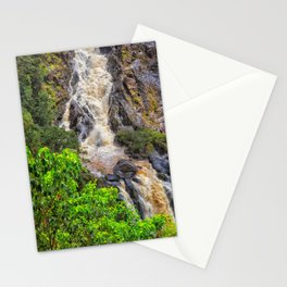 Waterfall in the rainforest Stationery Cards