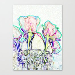 Roses. Beautiful Design Canvas Print