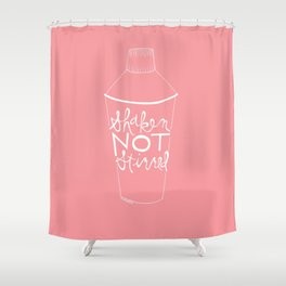 shaken in pink Shower Curtain
