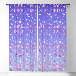 Game Over (pastel) Blackout Curtain