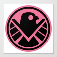 agents of shield Canvas Prints featuring Pink SHIELD by Arne AKA Ratscape