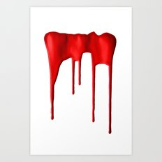 Red Splatter Art Print