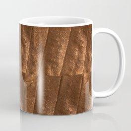 Rust copper metallic beige tan foil like design Coffee Mug