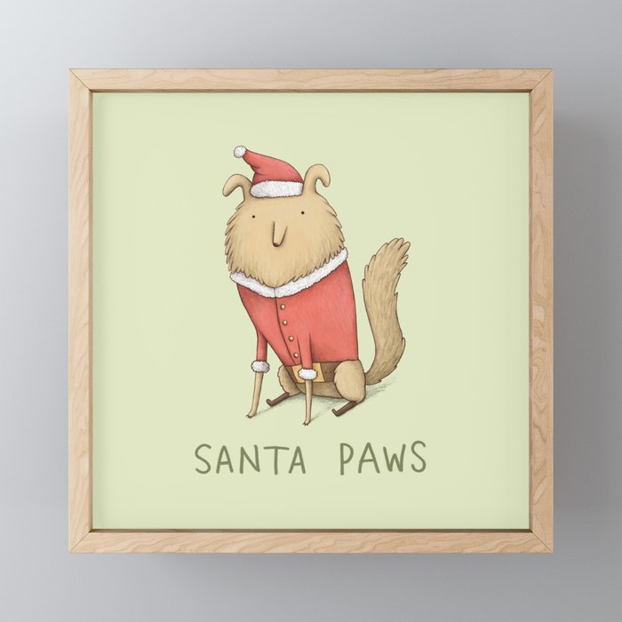 Santa Paws Framed Mini Art Print