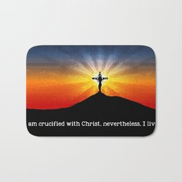 Crucified with Christ Bath Mat