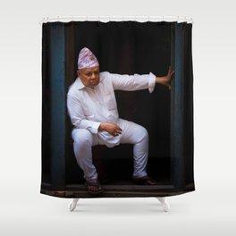 Nepali man of Kathmandu, Nepal Shower Curtain