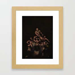 The Ultimate Doom (Hell on Earth Brown with Logo) Framed Art Print