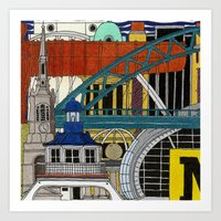 NEWCASTLE & GATESHEAD Art Print