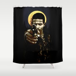 dance with the devil in the pale moonlight Shower Curtain