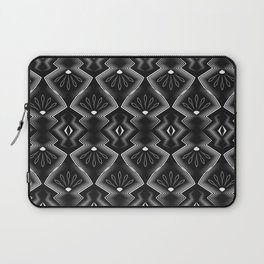 "Art Deco . Black and white pattern .""Constance "". Laptop Sleeve"
