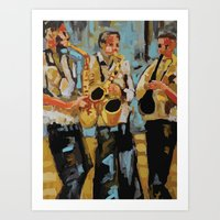 Jazz Session Art Print