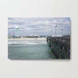 Topsail Beach Pier Metal Print