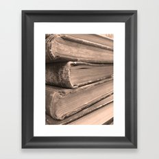 Stacks of Stories  Framed Art Print