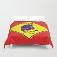 baymax Duvet Covers featuring Baymax by MiliarderBrown