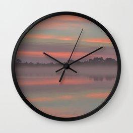 Autumn Sunrise - Pastel Wall Clock