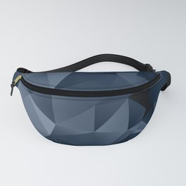 Black and blue polygonal pattern . Fanny Pack