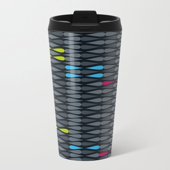 dropsstripes Metal Travel Mug